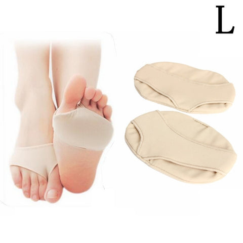 1 Pair of Forefoot Half Sole Protector Pad Relief Pain Silicone Gel Foot Care Cushions Large - Shopping2all