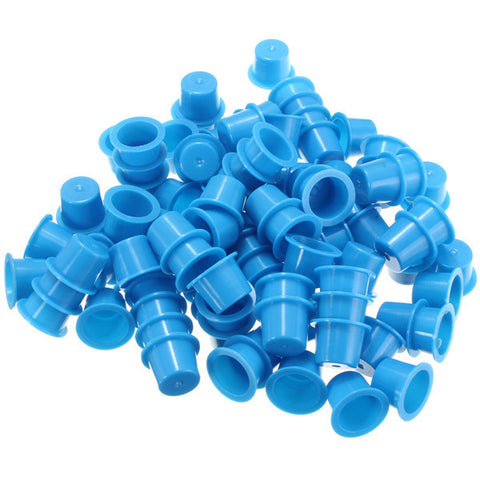 100Pcs Disposable Blue Plastic Tattoo Ink Cups Caps Tattoos Cup Supplies Tools 3 Sizes - Shopping2all - 1