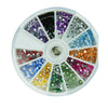 12 Colors Glitter Rhinestone Round Nail Art Decoration Wheel - Shopping2all - 4