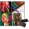 12 Colors Non-toxic Temporary Hair Color Chalk Square Hair Chalk - Shopping2all - 1