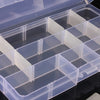 15 Cells Compartment Plastic Storage Box Adjustable Detachable for Nail Tip Gems Little Stuff - Shopping2all - 3