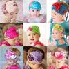 Baby Bow Peacock Feather Flower Headbands Wear Accessory - Shopping2all - 1