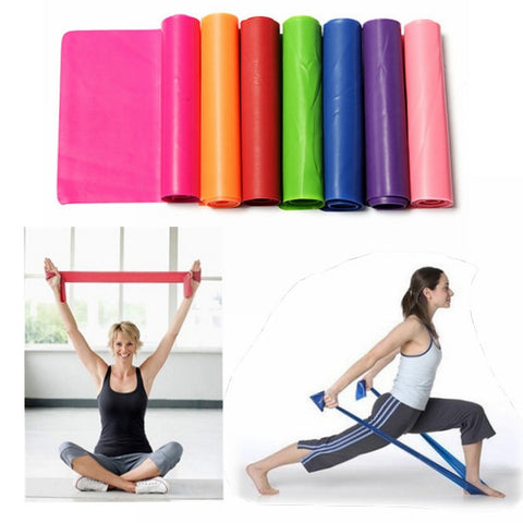 1.5m Yoga Slimming Rubber Stretch Resistance Exercise Fitness Elastic Band - Shopping2all