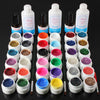 12 Color UV Gel Cleanser Plus Top Coat Brush Nail Art Set - Shopping2all - 2