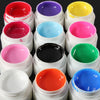 12 Color UV Gel Cleanser Plus Top Coat Brush Nail Art Set - Shopping2all - 4