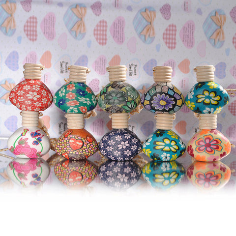 15ml Polymer Clay Small Hanging Empty Perfume Bottle - Shopping2all - 1