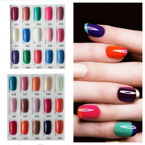 120 Color Nail Art Soak off LED UV Gel Polish 15ML 031-060 - Shopping2all - 1