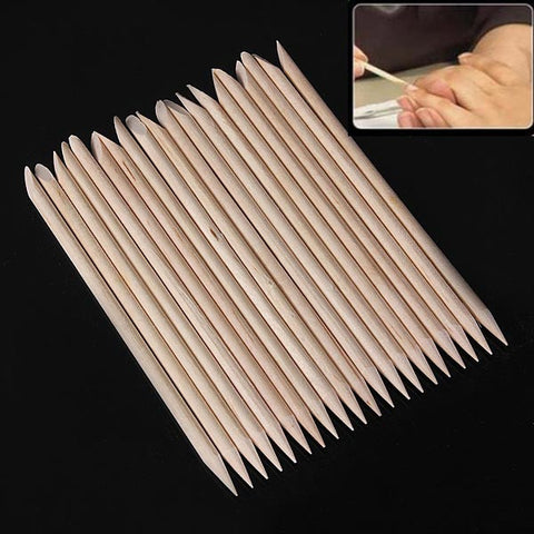 20Pcs Wood Nail Art Sticks Cuticle Pusher Remover Manicure Tools - Shopping2all - 1