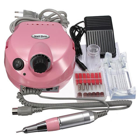 220V-250V Electric Nail Drill Machine Set Manicure Pedicure Tool - Shopping2all - 1