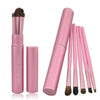5PCS Eye Cosmetic Makeup Eyeshadow Brush Sets With Cylinder Case - Shopping2all - 3
