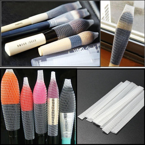 10PCS Cosmetic Brushes Pen Guard Sheath Mesh Protectors Cover - Shopping2all - 1