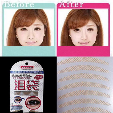 240 Pairs 2 In 1 Double Eyelid Tape Eye Bag Lying Silkworm Sticker - Shopping2all - 1