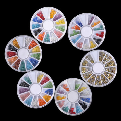 10 pcs 3D Gems Cone Stud Crystal Beads Stone Nail Art Decoration Wheel - Shopping2all - 1