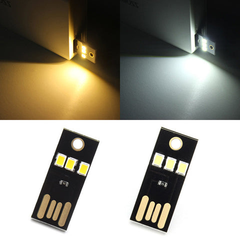 0.2W White/Warm White Mini USB Mobile Power Camping LED Light Lamp - Shopping2all