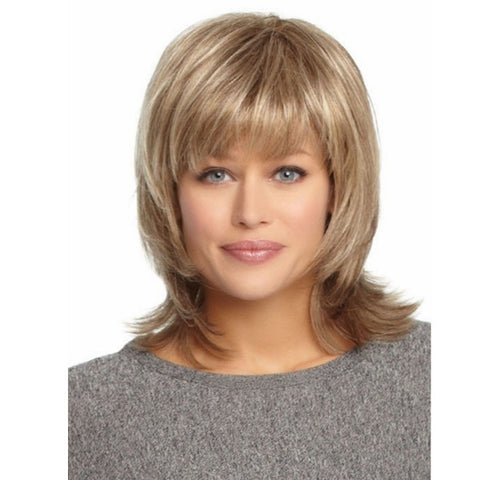 4 Colors Full wig Fluffy Virgin Human Hair Wigs Remy Mono Top Capless - Shopping2all - 1