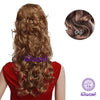 7Pcs NAWOMI Body Wave Heat Resistant Friendly Clip In Synthetic Hair Extension 17.7 Inch #6 Brown - Shopping2all - 1