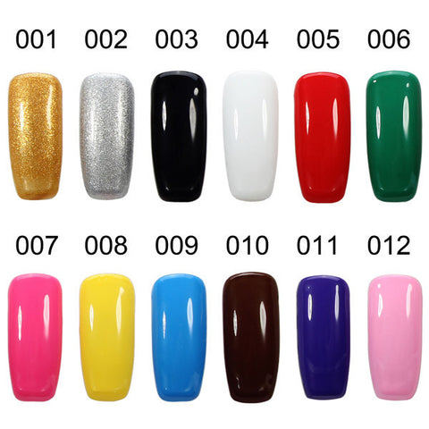 12 Colors Nail Art  Coloured Drawing Gel Phototherapy Pigmented  Painting Creation UV LED DIY Design - Shopping2all - 1