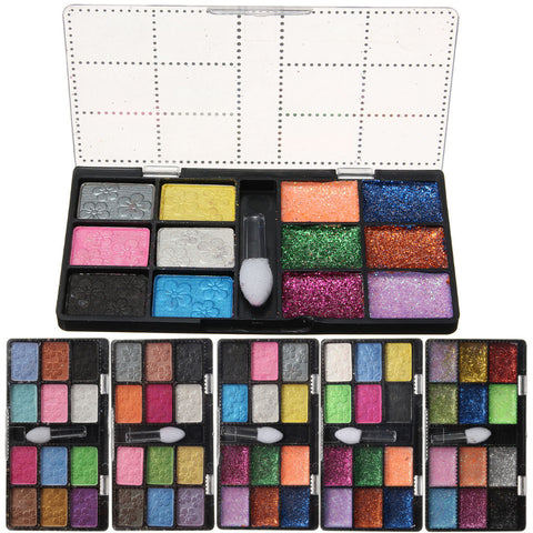 12 Colors Pearl Glitter Eyeshadow Eye Shadow Palette Makeup Cosmetic Kit Set - Shopping2all - 1