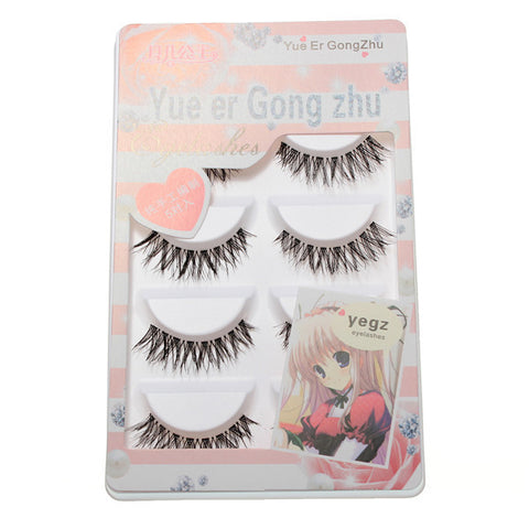 5 Pairs Natural Long False Eyelashes Synthetic Eye Lashes Eyelash Handmade - Shopping2all - 1