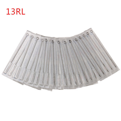 13RL 50Pcs Tattoo Needles Disposable Machine Stainless Steel Sterile Round Shader Liner - Shopping2all - 1