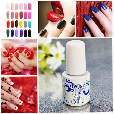 24 Colors 6ML Blue And White Porcelain Soak Off UV Gel Nail Art Polish - Shopping2all - 1