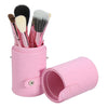 12Pcs Professional Makeup Cosmetic Brush Set Cylinder Leather Case - Shopping2all - 4