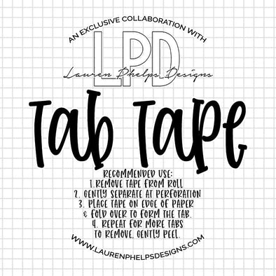 Tab Tape Collaboration with Lauren Phelps Designs - DEK Designs