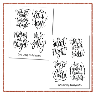 Holiday Quotes Clear Foil Overlays - DEK Designs