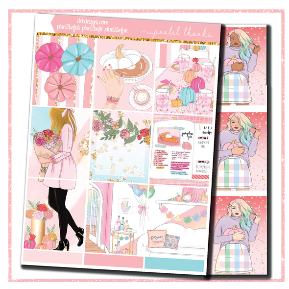 Pastel Thanks - Foil Kit