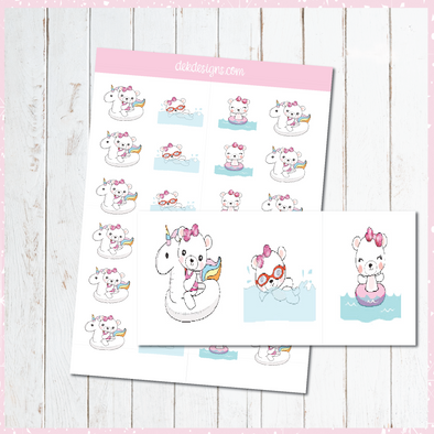 Website Special - Boo Bear Pool Day - DEK Designs