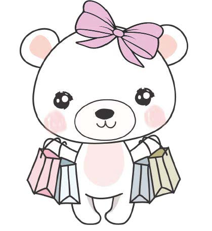 Boo Bear Shopping Bags - DEK Designs