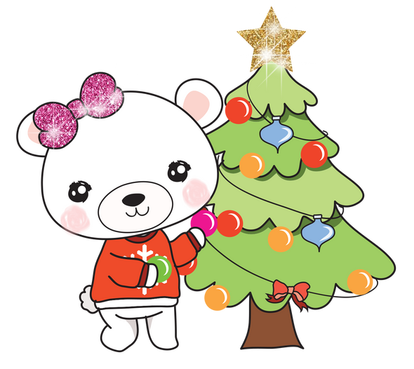 Boo Bear Christmas Tree - DEK Designs