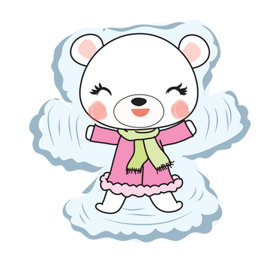 Boo Bear Snow Angel - DEK Designs