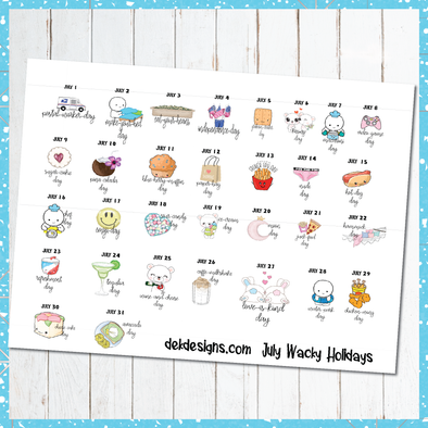 RTS July Wacky Holidays - DEK Designs