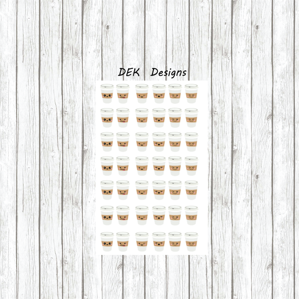 Kawaii Coffee Cups - DEK Designs