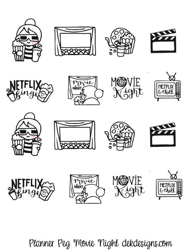 Planner Peg - Movie Night - DEK Designs