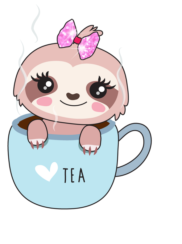 Sadie the Sloth Tea Time - DEK Designs