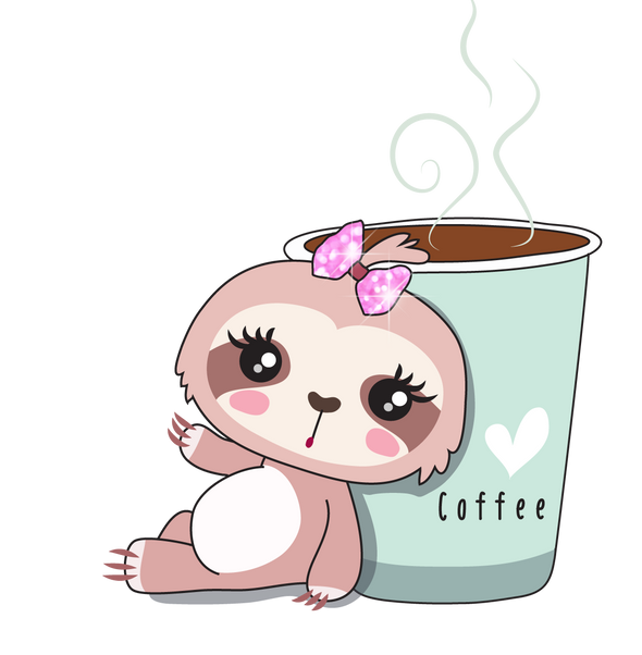 Sadie the Sloth Coffee - DEK Designs