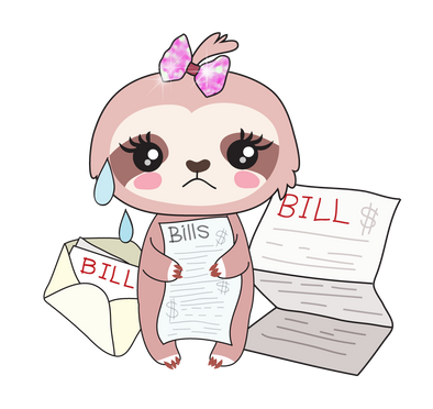 Sadie the Sloth Bills Due - DEK Designs