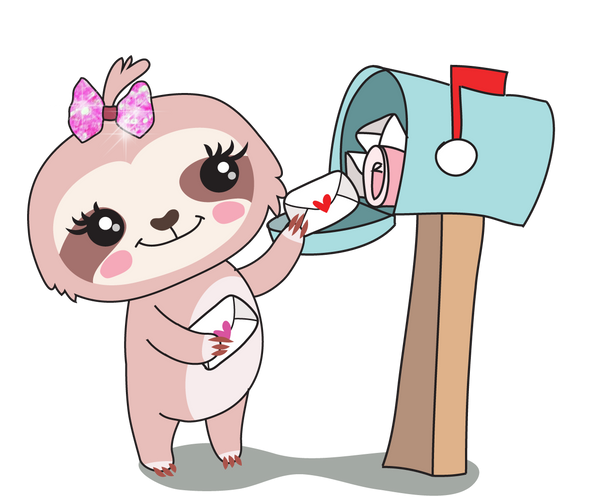 Sadie the Sloth Happy Mail - DEK Designs