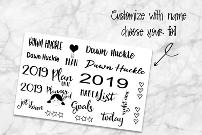 Custom Planner Girl Foil - DEK Designs
