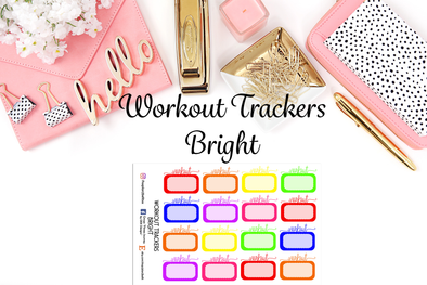 Workout Trackers - Bright - DEK Designs