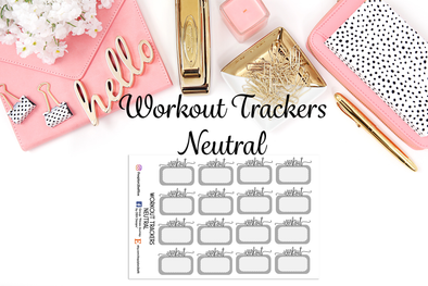 Workout Trackers - Neutral - DEK Designs