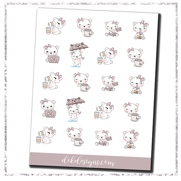 Boo Bear April Sampler - Website Special - DEK Designs