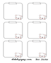 ss Boo Bear Stickie Note - DEK Designs