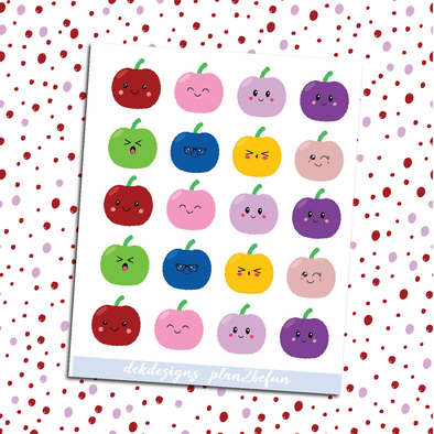 Kawaii Apple Emotions - DEK Designs