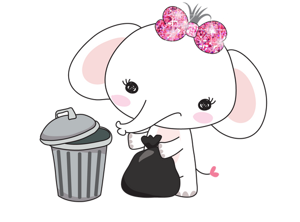 Elle The Elephant Trash Day - DEK Designs