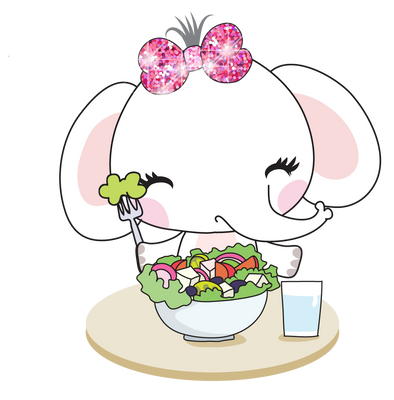 Elle The Elephant Salad for Me - DEK Designs