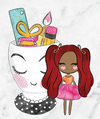 Pretty Dolls - Planner Items in Cup