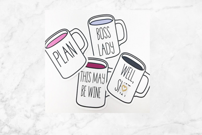 Inspired by Rae Dunn Die Cut Mug